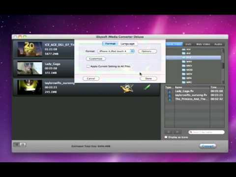 iSkysoft iMedia Converter Deluxe Mac - Convert Video, Burn/Rip or Copy DVD etc