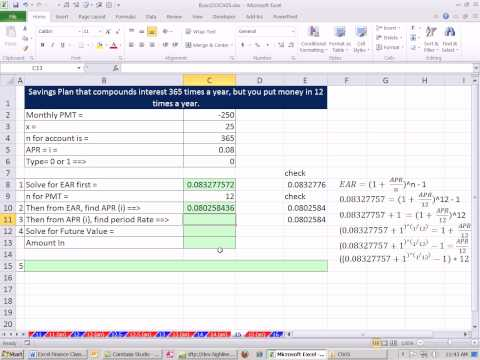 Excel Finance Class 30: Future Value For Interest Paid Daily, But Deposits Made Monthly