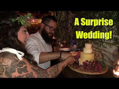A Surprise Wedding with a Cheese Wedding Cake!