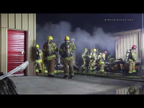 Indio: Two Alarm Fire Fire at Storage Yard