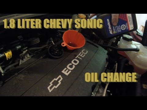 How to change the oil on a 1.8 liter Chevy Sonic