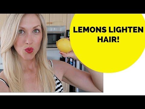 How to Lighten your hair Naturally using LEMONS! HOMEMADE