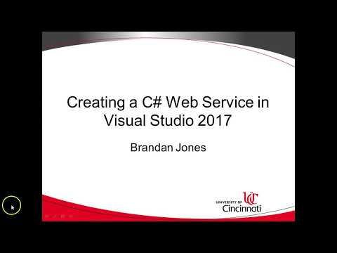 Create and view a WSDL web service in C# Visual Studio 2017