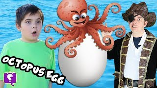 Giant OCTOPUS Pirate Surprise Egg with HobbyKidsTV