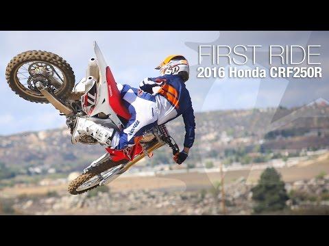 2016 Honda CRF250R First Ride - MotoUSA