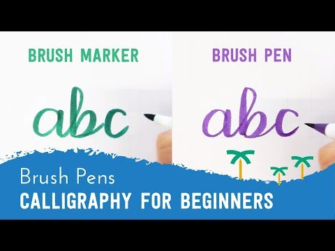 Brush Pen Calligraphy for Beginners - 'ABC' Brush Lettering | Stationery Island