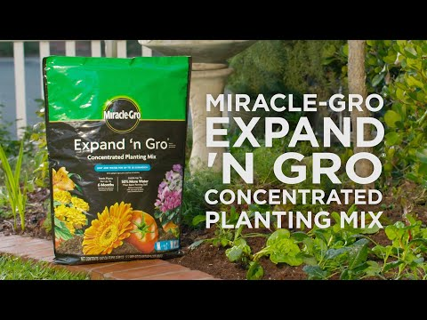 How to Use Miracle-Gro® Expand 'n Gro® Concentrated Planting Mix