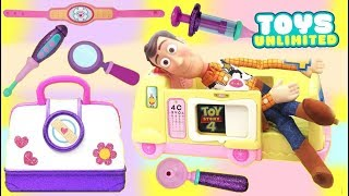Download Disney Pixar TOY STORY 4 Woody Visits Toy Hospital Doc Mcstuffins with Jessie Video