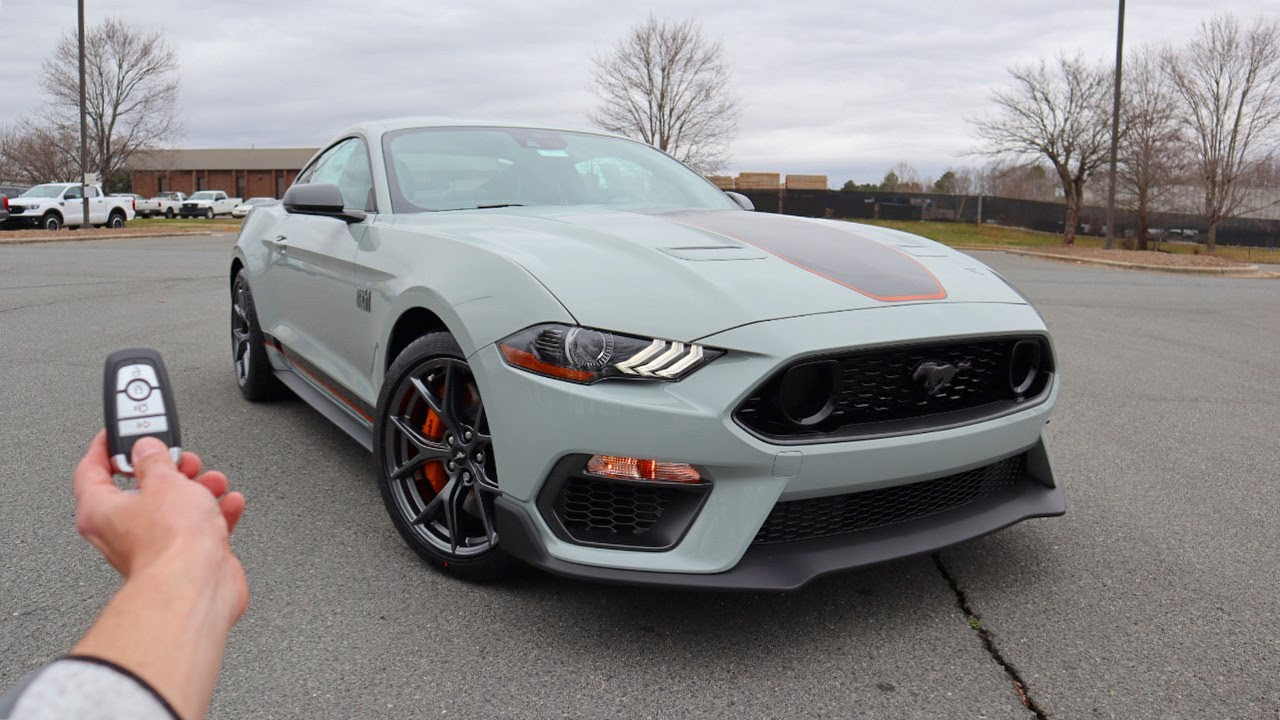 2021 Ford Mustang Mach 1 Premium: Start Up, Exhaust, Test Drive and Review