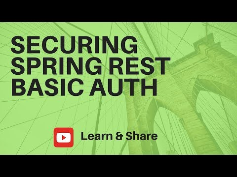 SECURING SPRING REST APPLICATION WITH BASIC AUTHENTICATION