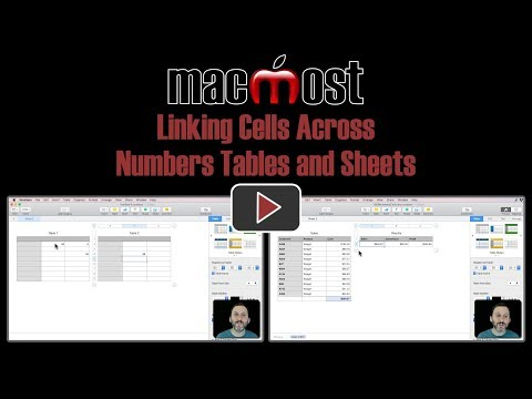 Linking Cells Across Numbers Tables and Sheets (MacMost #1809)