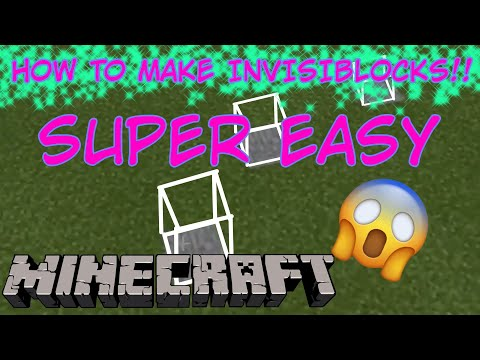 How to... Make INVISIBLE BLOCKS in Minecraft: Pocket Edition/Windows 10 Edition!