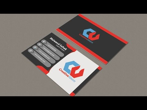 Business Card Design | In Illustrator cc And Photoshop | Hindi / Urdu  Part 01