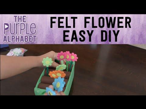 How to Make Felt Flower & Garden Box DIY