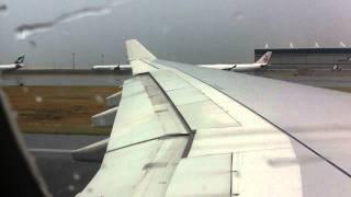Turbulent Takeoff from Hong Kong.