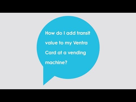 How do I add transit value to my Ventra Card at a vending machine?