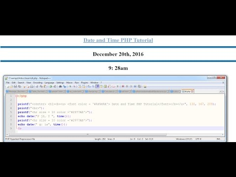 PHP Tutorial of Date and Time