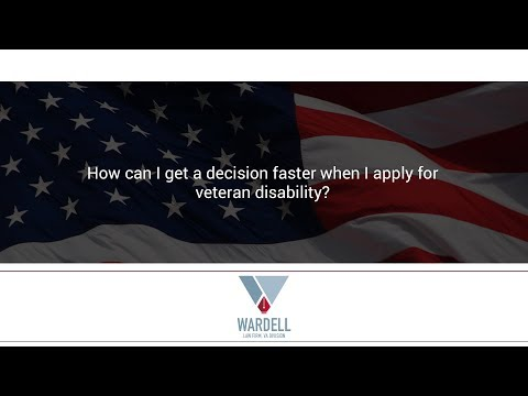 How can I get a decision faster when I apply for veteran disability?