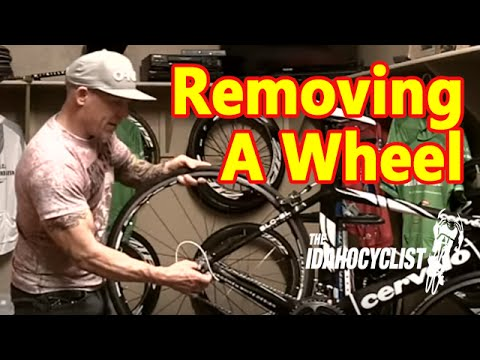 Removing A Rear Bike Wheel.  How To Operate Quick Release Skewers.