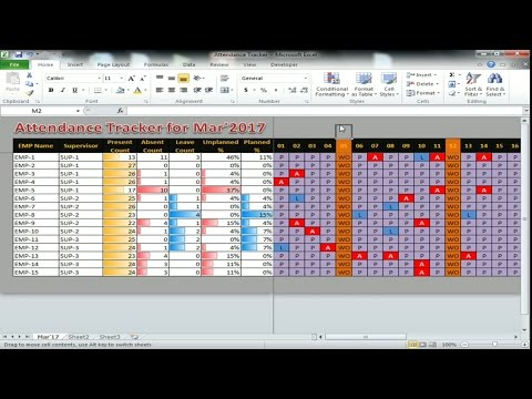 How to make an attractive attendance tracker