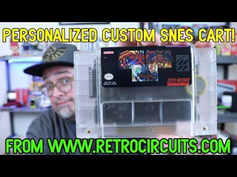 Custom Personalized SNES Multi Cart Repro With Hagane, Demon's Crest & Super Metroid!