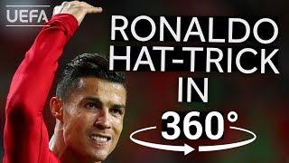 RONALDO hat-trick against SWITZERLAND in 360°!! #UNL FINALS HIGHLIGHTS