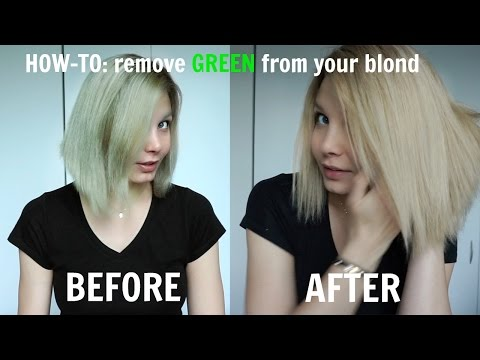 HOW - TO: remove GREEN shade from your Blonde!