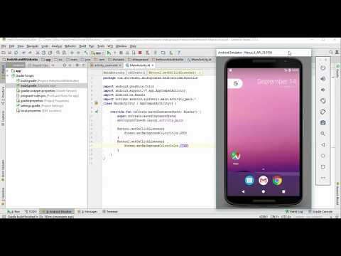 Kotlin with Android -2.Changing in Background Color of Screen when Button is Click