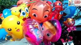 Caráter de balões de brinquedos Pokemon, Masha, Boboiboy, UpinIpin, Doraemon, Spongebob