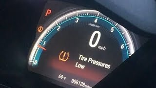 How To Reset The Low Tire Pressure Light On Honda Civic 2015 2016 2017 2018