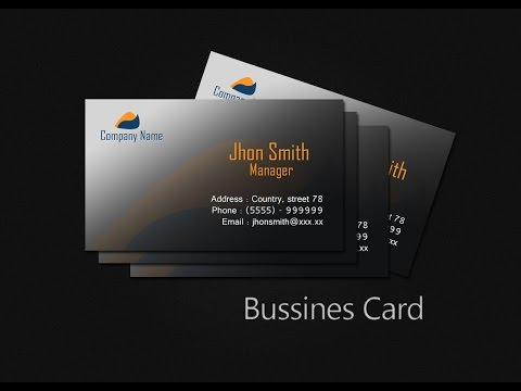 Create Business Card In Photoshop CS5