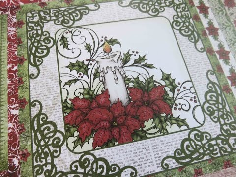 Sparkling Poinsettia Heartfelt Creations Close Up