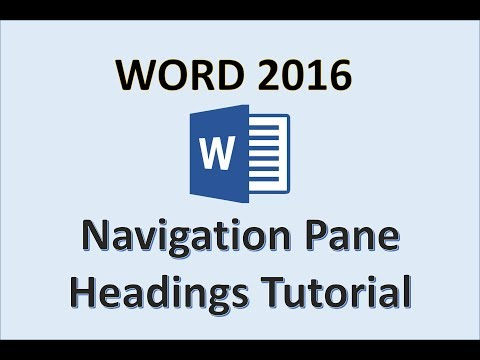 Word 2016 - Navigation Pane in Microsoft Office 365 - Adding and Formatting Section Heading - How To