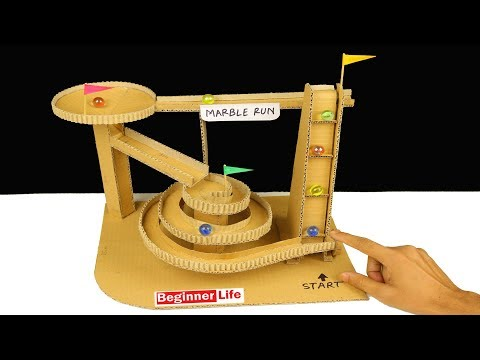 How to Make Marble Run Machine from Cardboard - DIY Marble Race