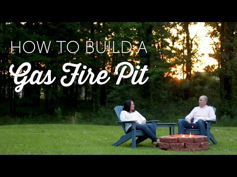 How to Build a Gas Fire Pit | DIY Projects | Installation
