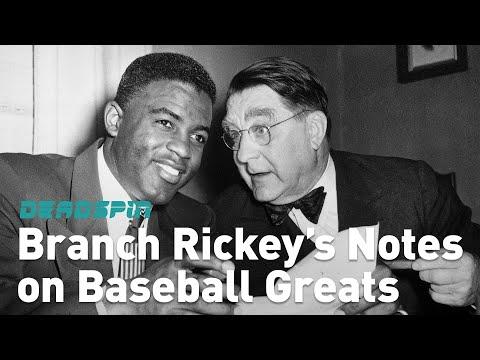 Branch Rickey's Notes on Baseball Greats
