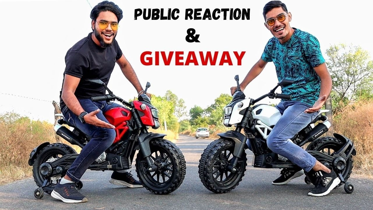 Riding 2 Mini Electric Bikes in Public | Funny Reaction + Bikes Giveaway