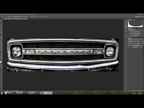 Grunge effect, on car photos - Photoshop tutorial