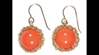Coral Earrings | Vintage Coral Jewelry Set For Women