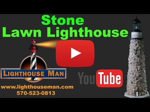 Stone Lighthouse Lawn Ornament - Lighthouse Man