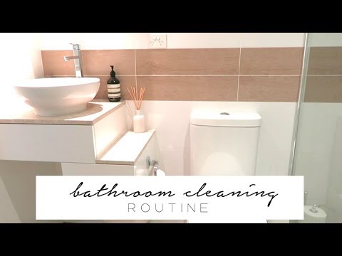 Bathroom Cleaning Routine