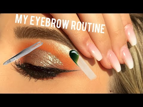 EYEBROWS: WAX, SHAPE, AND FILL AT HOME!!! | SaraStyles