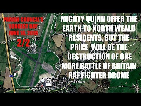 CRH news - 2/2 Mighty Quinn promise the earth to North Weald residents