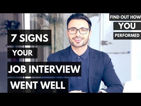 Signs Your Job Interview Went Well (Find Out How You Performed)