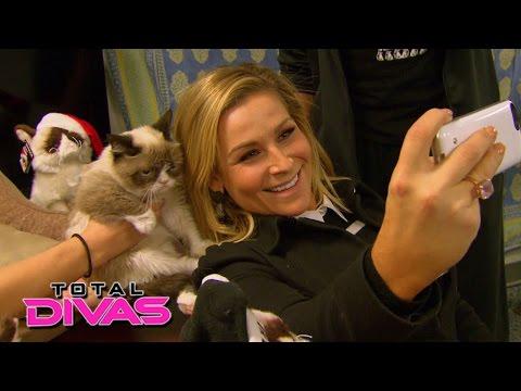 Natalya and Tyson Kidd meet Grumpy Cat: Total Divas Preview, March 8, 2015