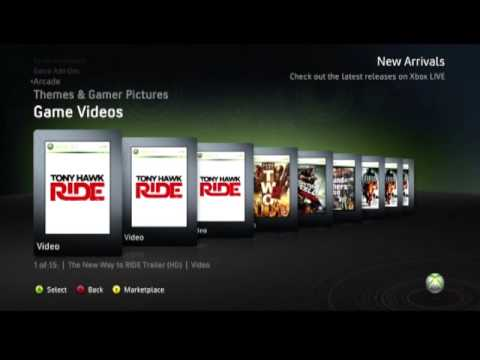 Xbox 360 Game Marketplace Menu HD