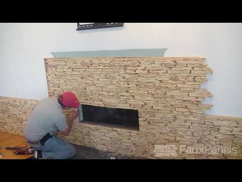 Install a Faux Stone Fireplace Surround | Step-by-Step Demo