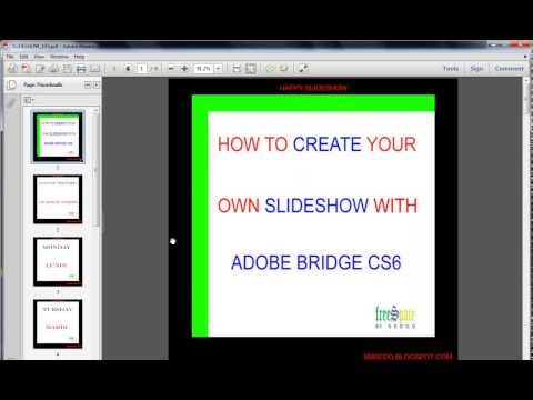 create a slideshow with adobe bridge cs6