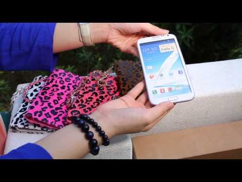 Leopard pattern case for Samsung N7100 Galaxy Note II