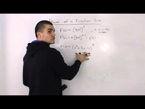 Power of a Function Rule for Derivatives